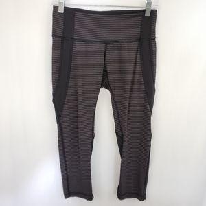 Lululemon Pinstripe Mesh Crop leggings Size 8